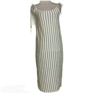 New Marine Layer XS Farrah Dress Stripe Slip Midi